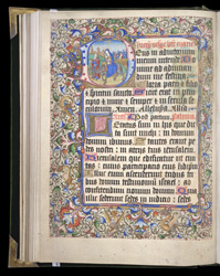 Historiated Initial With The Flight Into Egypt, In A Book Of Hours